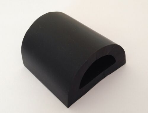 PER METRE BOAT D FENDER RUBBING STRAKE BLACK76mm Base x 47mm Height x 10mm Wall