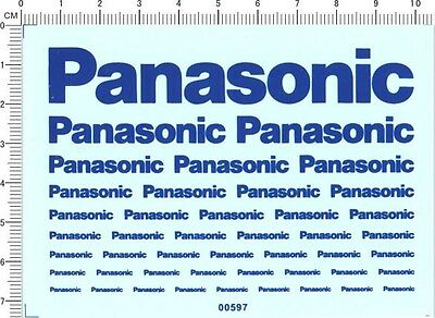 decals Panasonic for different scales(blue) 00597