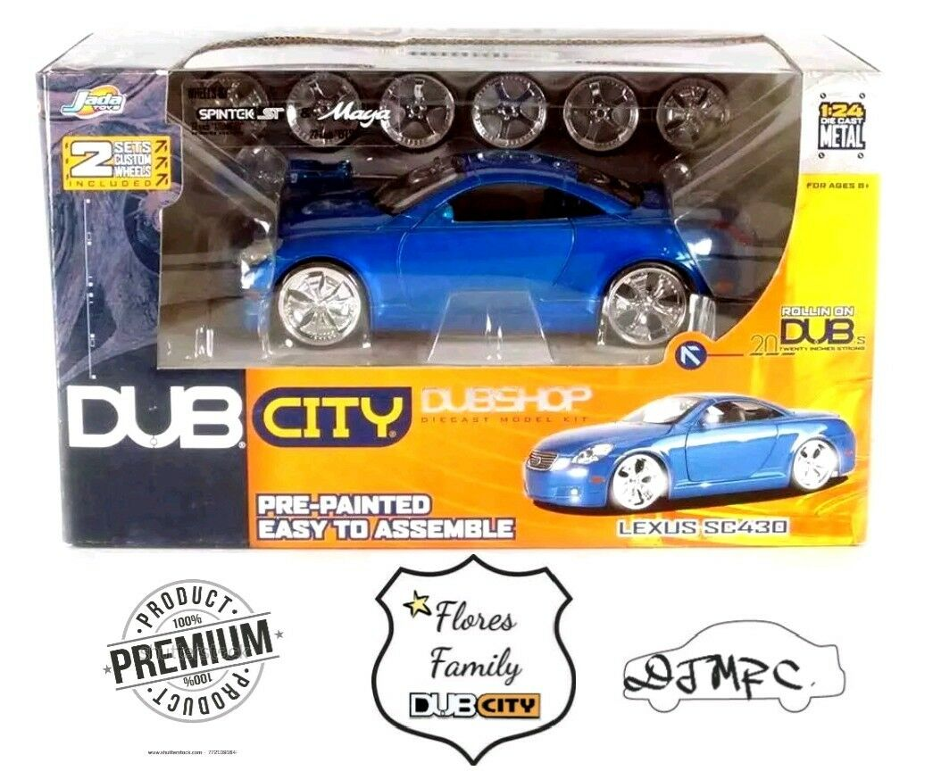 DUB City: Lexus SC-430 DubShop  blu  1/24 Scale-Awesome Import