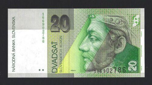 2004 SLOVAKIA 20 Korun P-20f Pre-Euro Pretty Note Pack Fresh UNC