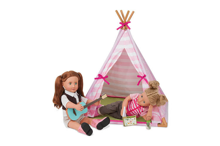 Our Generation - Mini Tipi Spielset für Puppe 46 cm