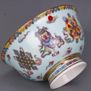 Bol en porcelaine chinoise de Jingdezhen Chine céramique bleue dynastie Qing new