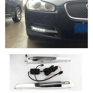 CAR White LED DRL Daytime Running Lights DRL Lamp For Jaguar XF 2008 ~ 2010