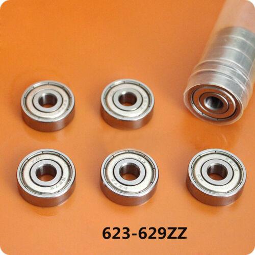 5Pcs Deep Groove Ball Miniature Bearing 80023//623 624 625 626 627 628 629ZZ