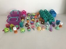 LOT of 40 Shopkins With Shopping Bags Baskets Scissors Shoes Boots
