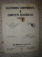 FLIPPER WILLIAMS - 1979 - ELECTRONIC COMPONENTS PHOENIX POKERINO POMPEI FLASH
