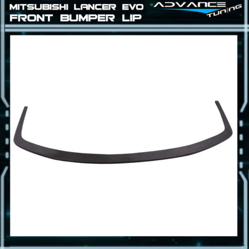 Fit 08-15 Mitsubishi Lancer EVO X 10 Front Splitter For VTX Voltex Lip Only