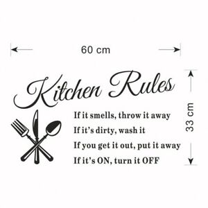 Kitchen-Rule-Wall-Stickers-Decal-Home-Decor-Vinyl-Art-Mural-Removable-Decor-IC1C