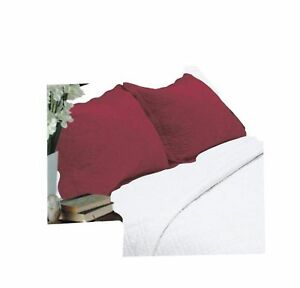All-For-You-2-Piece-Embroidered-Pillow-Shams-King-size-king-burgundy-King