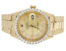 Mens Rolex 18K Yellow Gold Presidential Datejust 36MM Diamond Watch 3.0 Ct