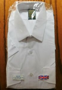 Popeline Chemise à Manches Courtes Vintage 1960 S 1970 S Taille 16.5 Non Utilisé Pour Homme Travail Uniforme-afficher Le Titre D'origine Qualité Et Quantité AssuréE