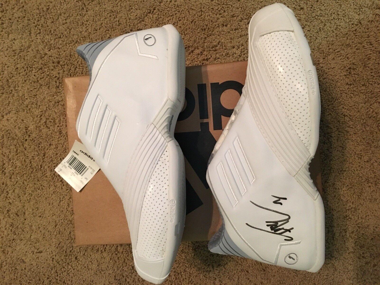 Tracy McGrady Signed Adidas TMac I 1 shoes White 676152 12 DS New Orlando Magic