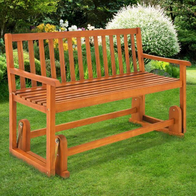 Wooden Swinging Seater Bench Garden