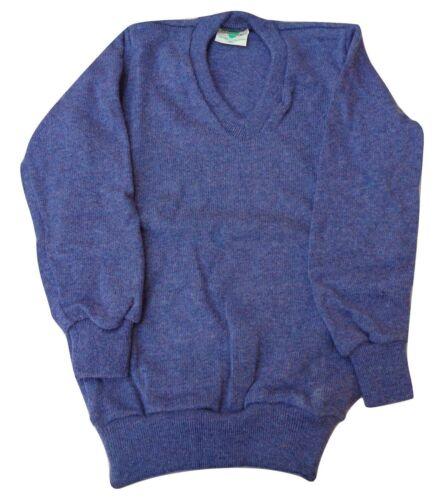 Vintage NOS Retro Wool Tasmanian Mens Jumper TAMARKNIT Small Blue Australia