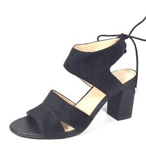 9f2d98c43 Franco Sarto Gem Womens Size 9 M Black Suede Heel Sandals.