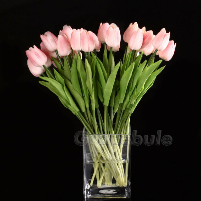 6 Head Best Quality Latex Real Touch Tulip Flower For Wedding Bouquet Décor New