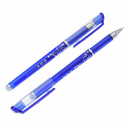 12 Pcs 0.5mm Erasable Gel Pen Blue School Office Supplies Student Stationery USA