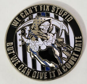 Blue-Lives-Matter-We-Cant-Fix-Stupid-Police-Challenge-Coin-non-NYPD