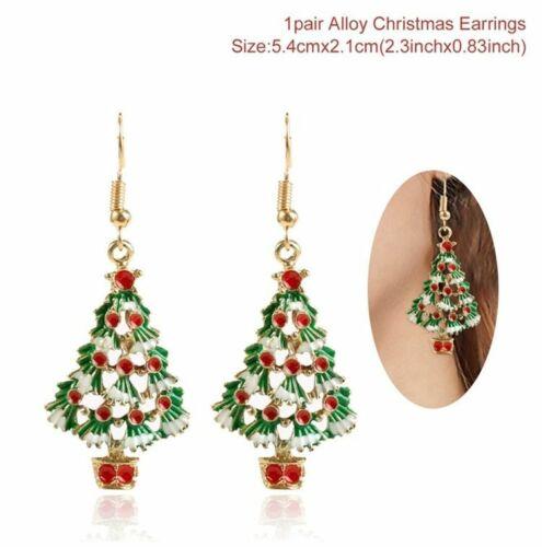 Christmas Tree Santa Claus Earring Pendant Xmas Happy New Year 2020 Decoration
