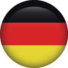German Germany National Flag Round Icon Sticker Decal Graphic Vinyl Label