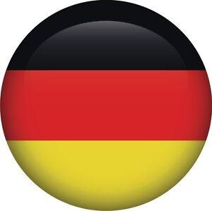 Drapeau Rond allemand allemagne drapeau national rond icône autocollant graphique