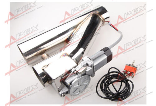 """3/"""" 76mm Exhaust Downpipe Testpipe Catback E Electric Cutout kit Switch Control"""