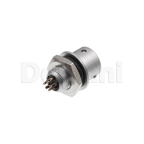 10101510221 Aviation Cable Connector 7mm 5 Pin Male Silver