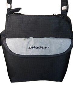 Eddie-Bauer-Camera-Bag-Travel-Case-Shoulder-Bag-8-x-6-x-11-Multi-Pocket-BLK-GRAY