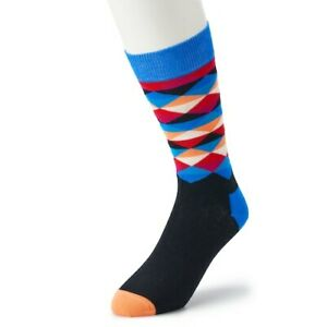 HS-by-Happy-Socks-Men-039-s-Cotton-Socks-10-13-NWT-Multicolor-Triangles-Great-Style