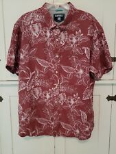 Seapointe Men/'s Button Down Hawaiian Shirt Large Coco Brown