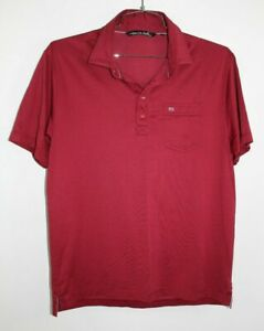90-Travis-Mathew-Golf-Mens-Polo-Shirt-Size-L-Short-Sleeve-Red-Pima-Cotton