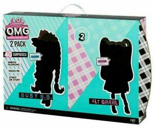 LOL Surprise OMG Dolls 2 pack - Alt Grrrl & Busy B.B. w/40+ Surprises - NEW!