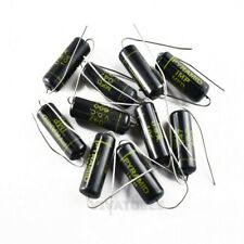 Lot Of 10x Vintage Pyramid Imp Axial Oil Capacitor 047uf 600v Black Beauty