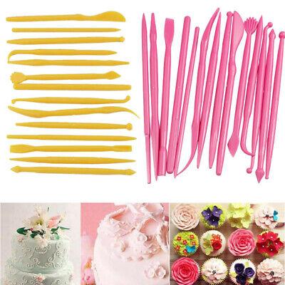 14Pcs DIY Cake Modelling Tools Set Fondant Clay Cutter Pen Tool Carve Mould T0G2