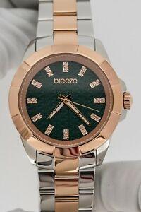 Breeze Womens Quartz Watch Star-Blazed Brown Dial with IP
