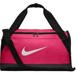 e77aa0fa25d0 Nike Brasilia Training Duffel Bag Small Hot Pink Black White BA5335 ...