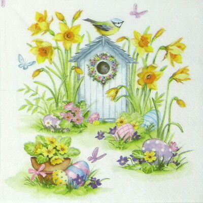 X-mas Bird House Decoupage 4x Paper Napkins for Party