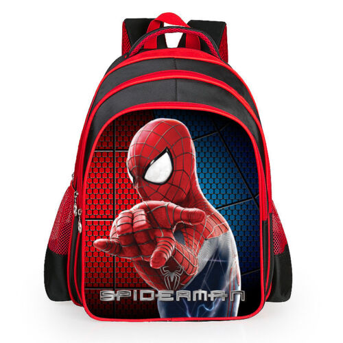 FREE P/&P Spiderman Kids Bag Children Boy School Backpack Spider-Man 3D Rucksack