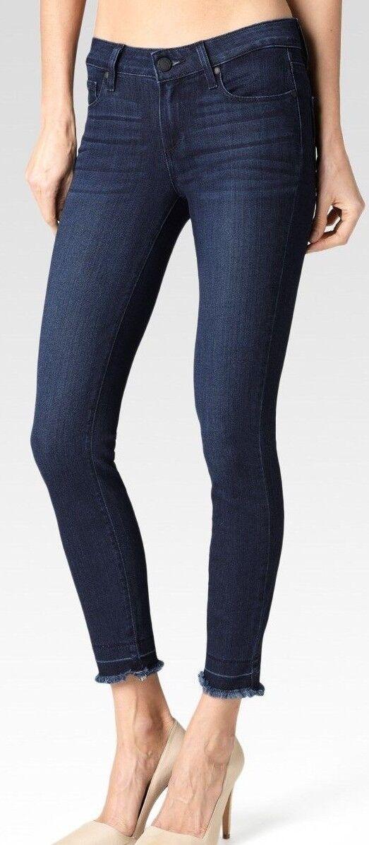PAIGE TRANSCEND Verdugo Crop - Mid Rise Ankle Skinny in Henrietta Undone Hem 25