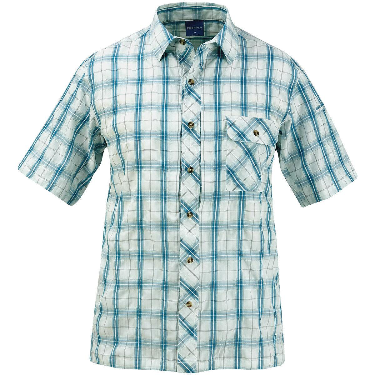 Propper Propper Propper CoGrün Button-Up Kurzarm Hemd Sicherheit Herren Patrouille Mallard Plaid | Billig ideal  d8ca16