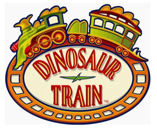 "2.5/""-9.5/"" Dinosaur train logo heat transfer iron on character"