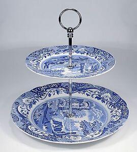 Spode-034-Blue-Italian-034-Etagere-2-stufig