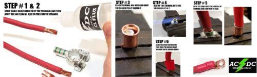 2 GAUGE TOP POST RELOCATION DIY SOLDERING BATTERY CABLE KIT 20/' RED// 20/' BLACK