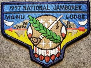 1997-National-Jamboree-Lodge-133-Ma-Nu-DBL-BDR-S42-Last-Frontier-Council-OA-BSA