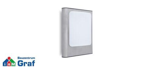 800 lm Edelstahl 13W Lutec LED-Außenwandleuchte FACE 3000K IP44 //#844185