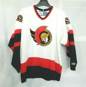 Vintage-90s-CCM-MASKA-NHL-Ottawa-Senators-White-Hockey-Jersey-Mens-XL-Air-Knit