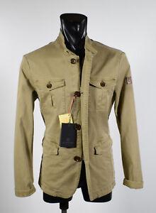 Sahariana-Field-Jacket-Moda-Beige-Milestone-Cotone-Stretch-Sfoderato-Slim-Fit