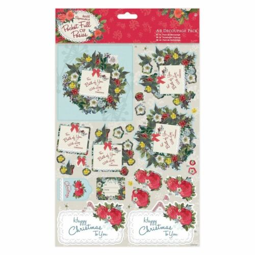A4 Decoupage Papel Craft Pack-Para Ti docrafts Bolsillo Lleno De Posies