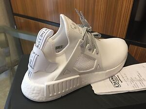 wholesale dealer 86a63 f169d Image is loading Adidas-NMD-ALL-WHITE-XR1-Super-Superstar-LX-