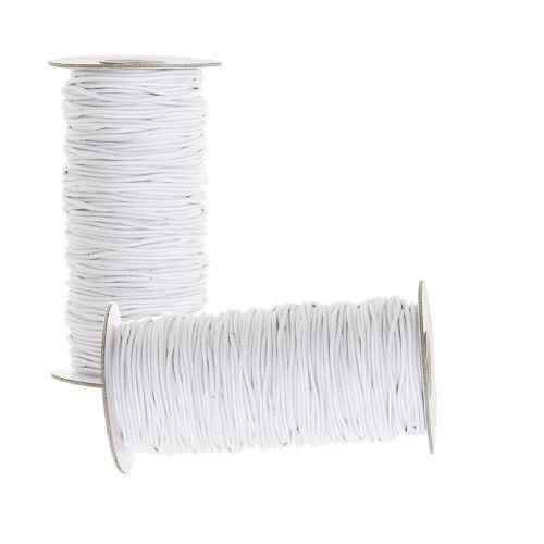 2.5mm Rotondo Bianco Nero Elastico Bungee Shock stringa elastica fascia in vita cord